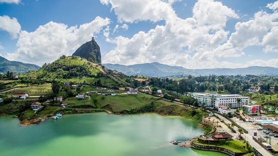 Colombia「Aerial view of guatape」:スマホ壁紙(6)