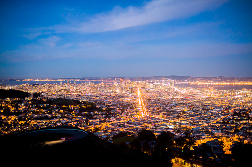 冒険「Aerial view of San Francisco cityscape, California, United States」:スマホ壁紙(16)