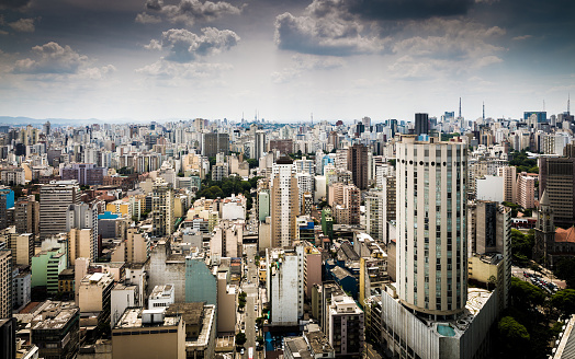 Avenue「Aerial view of Sao Paulo, Brazil」:スマホ壁紙(4)