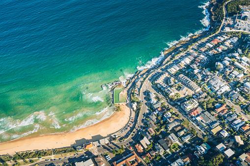 Coastal Feature「aerial view of Sydney」:スマホ壁紙(7)