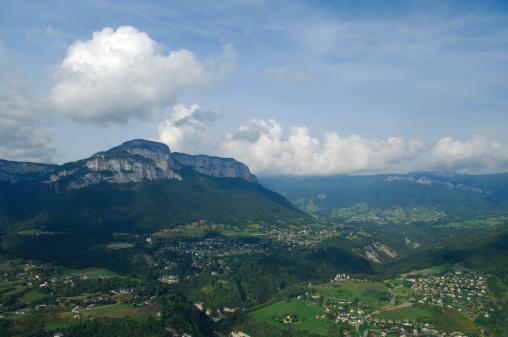 Savoie「Aerial view of national park Massif des Bauges」:スマホ壁紙(10)