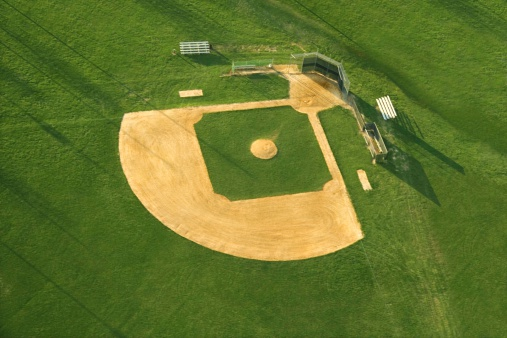 Philadelphia - Pennsylvania「Aerial view of baseball diamond」:スマホ壁紙(18)