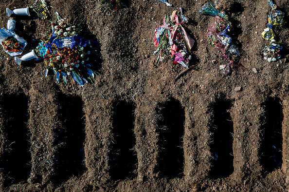 Grave「Coronavirus Victims Burials in Flores Cemetery」:写真・画像(8)[壁紙.com]