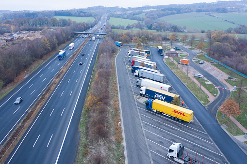 Road Construction「Aerial view of a Highway in Germany」:スマホ壁紙(12)