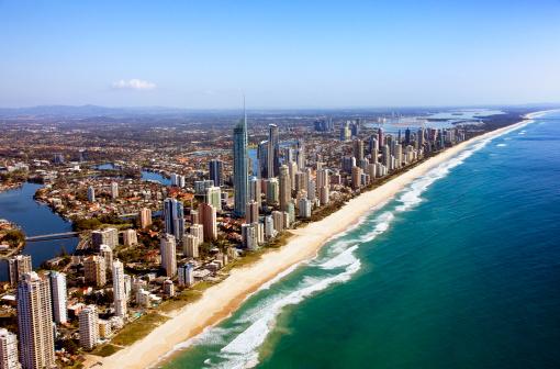 Queensland「Aerial view of Gold Coast, QLD, Australia」:スマホ壁紙(7)