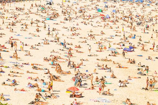 観光「オーストラリア・ボンダイ・ビーチの空中風景」:スマホ壁紙(17)