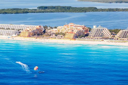 Mayan Riviera「Aerial view of Cancun, Riviera Maya, Mexico」:スマホ壁紙(6)