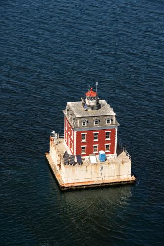 Beacon「Aerial view of New London Ledge Lighthouse, Groton, Connecticut」:スマホ壁紙(12)