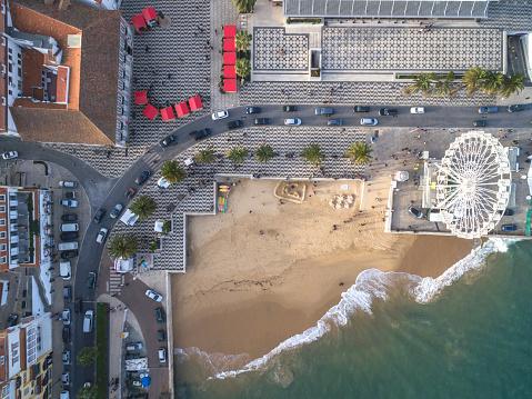 Pier「Aerial View of Cascais, Portugal」:スマホ壁紙(5)