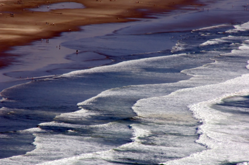 Cannon Beach「Aerial View of Beach with Tide」:スマホ壁紙(2)