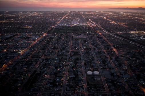 City Of Los Angeles「Aerial view of  dawntown,LA」:スマホ壁紙(15)