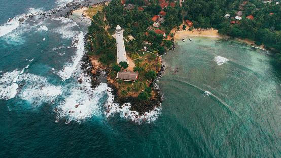 Sri Lanka「Aerial view of lighthouse in Sri Lanka」:スマホ壁紙(0)
