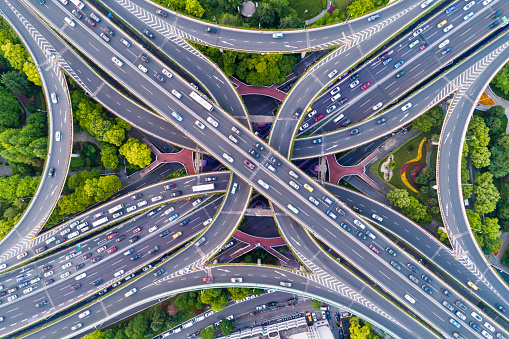 Elevated Road「Aerial view of Shanghai Highway」:スマホ壁紙(1)