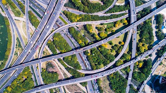 Elevated Road「Aerial view of Shanghai Highway」:スマホ壁紙(10)