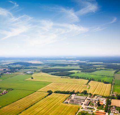 Farm「Aerial view of a Suburban area , Agriculture」:スマホ壁紙(4)