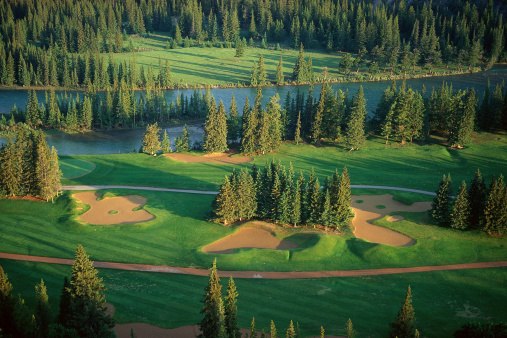 Sand Trap「Aerial view of scenic golf course」:スマホ壁紙(6)
