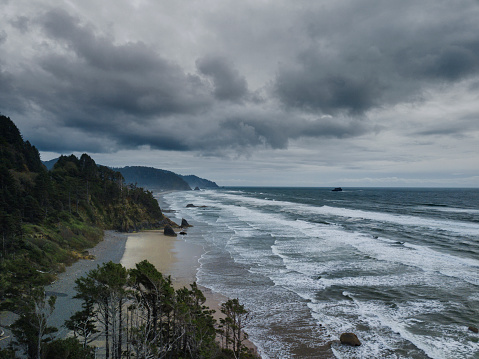 Cannon Beach「Aerial view of Oregon coast」:スマホ壁紙(16)
