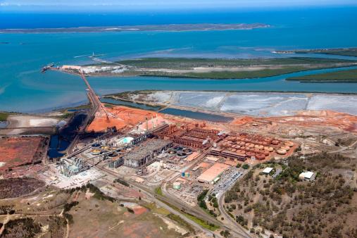 Queensland「Aerial view of Gladstone, Queensland.」:スマホ壁紙(19)