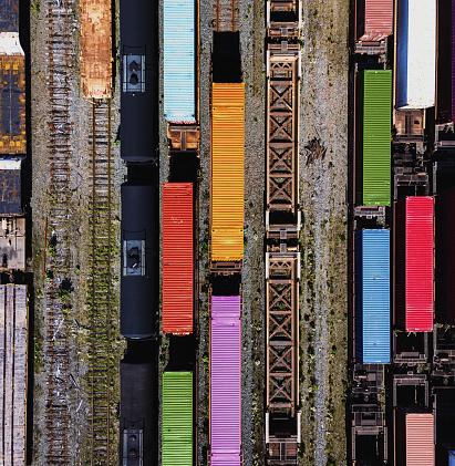 Railroad Junction「Aerial View of Rail Yard」:スマホ壁紙(15)