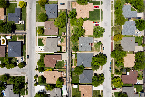 Housing Project「Aerial View of Residential Community in USA」:スマホ壁紙(17)