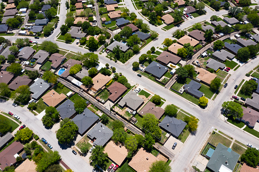 Housing Project「Aerial View of Residential Community in USA」:スマホ壁紙(15)