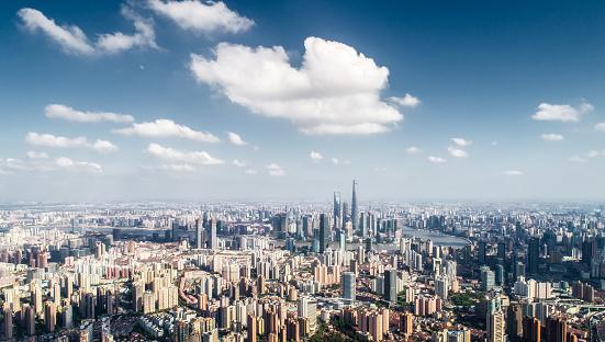 Midday「aerial view of Shanghai」:スマホ壁紙(4)