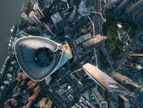 アジア大陸「Aerial View Of Shanghai」:スマホ壁紙(12)