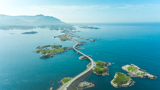 Cruise - Vacation「Aerial view of atlantic way on west coast of Norway」:スマホ壁紙(7)