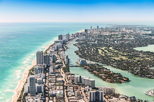 Miami「Aerial View of Miami Beach」:スマホ壁紙(2)