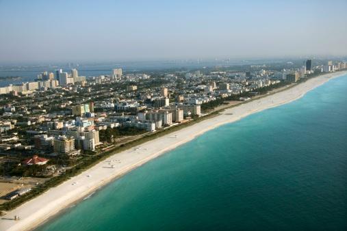 Miami Beach「Aerial view of Miami Beach, Florida」:スマホ壁紙(17)