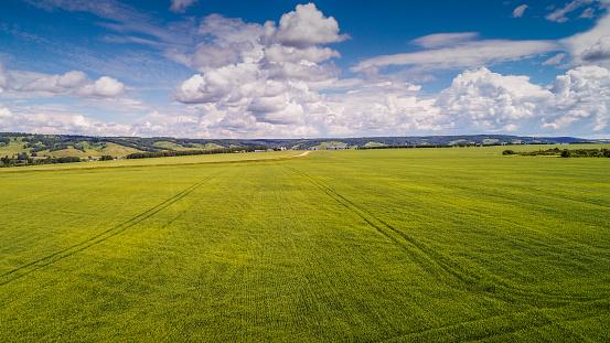 草地「Aerial View Of Landscape」:スマホ壁紙(5)