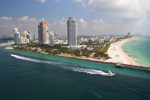Miami Beach「サウスビーチの空からの眺め」:スマホ壁紙(3)