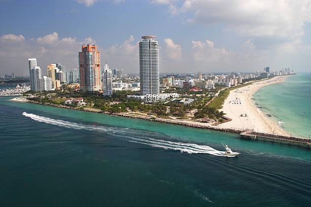 サウスビーチの空からの眺め:スマホ壁紙(壁紙.com)