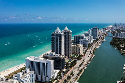 Miami「Aerial view of South Beach Miami Florida」:スマホ壁紙(7)