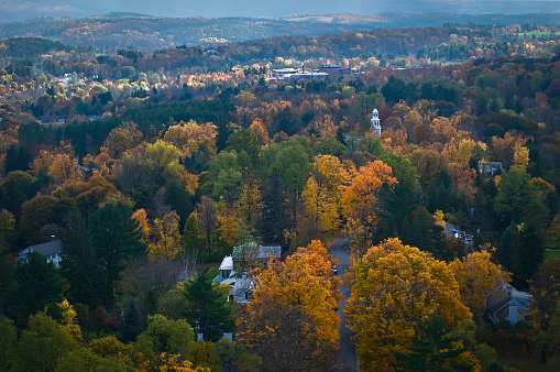 Stowe - Vermont「Aerial view of fall foliage in Vermont」:スマホ壁紙(8)