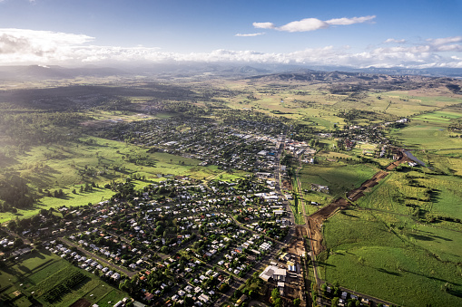 Queensland「Aerial View of a Small Town」:スマホ壁紙(14)