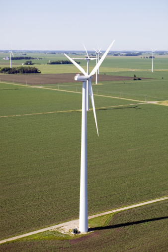Blade「Aerial View of a Rural Wind Farm」:スマホ壁紙(13)