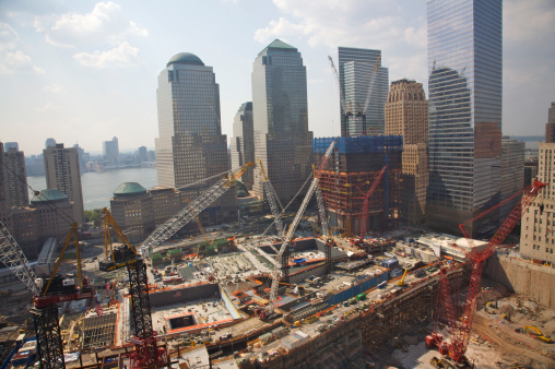 Lost「Aerial view of World Trade Center site under construction, with World Financial Center in distance, downtown, NY, NY, USA」:スマホ壁紙(16)