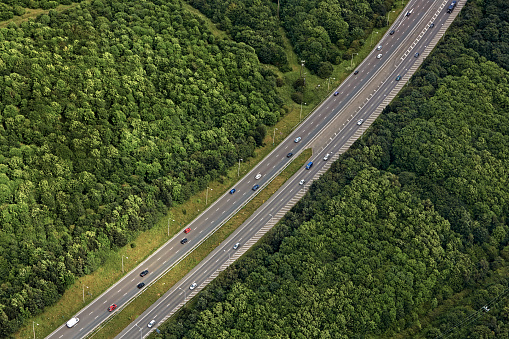 Multiple Lane Highway「Aerial view of A1 highway in Newcastle Upon Tyne」:スマホ壁紙(18)