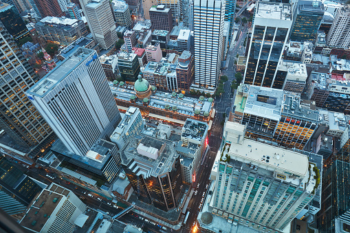 Downtown District「Aerial view of Sydney downtown」:スマホ壁紙(1)
