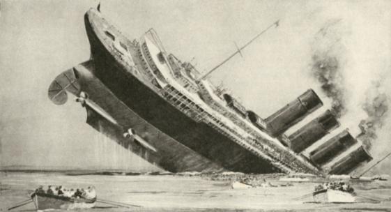1990-1999「Punch cartoon on the sinking of the Lusitania, 1915」:スマホ壁紙(16)