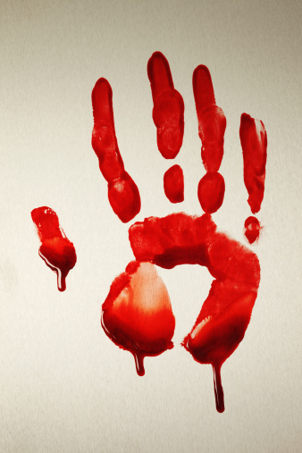 Capitalism「Bloody Handprint」:スマホ壁紙(5)