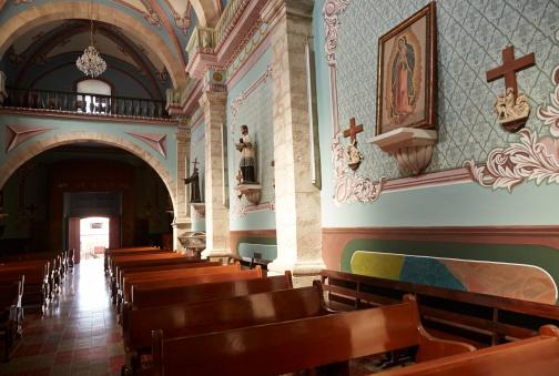 Praying「Church, San Sebastian de Oeste, Sunlight Streams In」:スマホ壁紙(14)