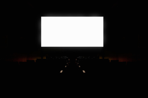 Projection Equipment「White projection screen in empty movie theatre (Digital Composite)」:スマホ壁紙(13)