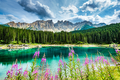 Central Eastern Alps「Lago di Carezza- Karersee,near Bolzano, Trentino-Alto Adige, Italy」:スマホ壁紙(3)