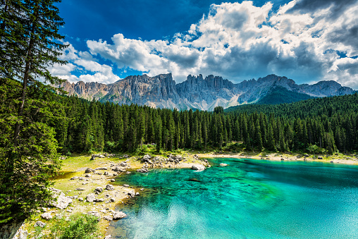 Alto Adige - Italy「Lago di Carezza- Karersee, Trentino-Alto Adige, Italy」:スマホ壁紙(8)