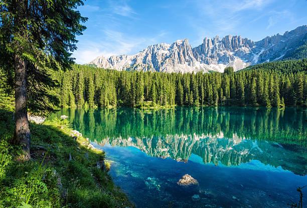 Lago di Carezza- Karersee, Trentino-Alto Adige, Italy:スマホ壁紙(壁紙.com)