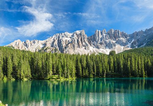 Alto Adige - Italy「Lago di Carezza- Karersee, Trentino-Alto Adige, Italy」:スマホ壁紙(4)