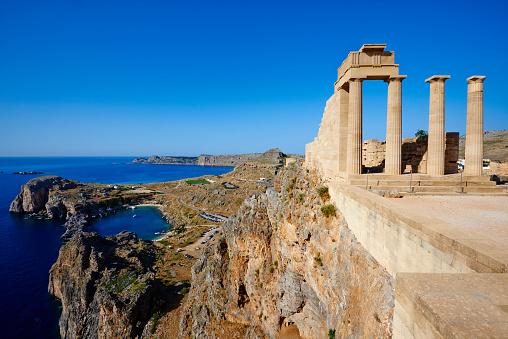 Religion「Greece, Dodecanese, Rhodes, Lindos Acropolis」:スマホ壁紙(5)