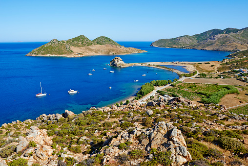 Patmos「Greece, Dodecanese, Patmos island, Grikos bay」:スマホ壁紙(0)